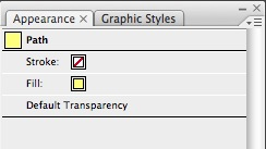 The Appearance panel in Illustrator