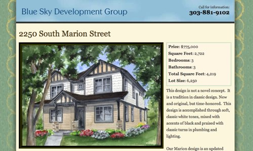 Screenshot of the Denver Real Estate website design