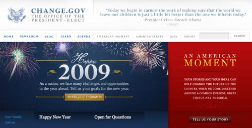 Presidential White House Web Design...Change sure IS a'comin!