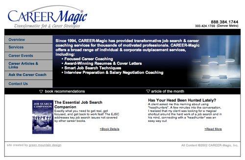 Career-Magic.com Before Denver web design