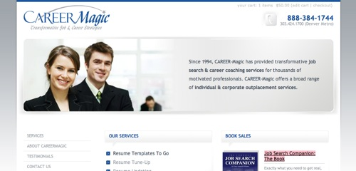 New CareerMagic Website Design