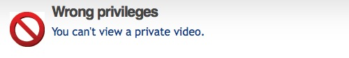 Whoops! You can't view a private video!