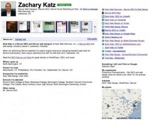 Zack Katz Google Profile