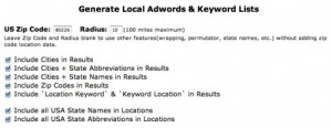 Keyword List Generator