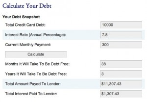 Debt Calculator Screenshot
