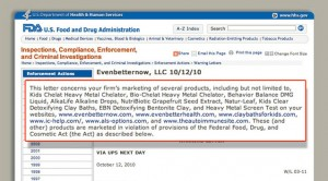 FDA Warning SEO