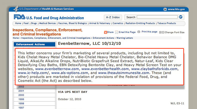 Want some valuable .gov links? Get a FDA warning letter!