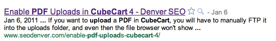 CubeCart PDF Upload