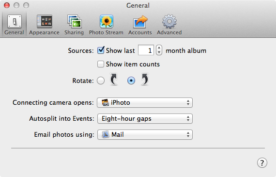 "Update: If you are using iPhoto 11, you can simply go to ""Preferences > Email photos using"""